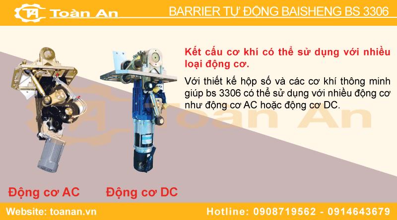 2 loại động cơ barrier tự động baisheng bs 3306 sử dụng.