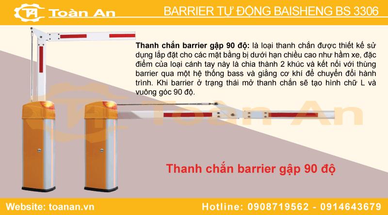 Thanh chắn barrier gập bs 3306.