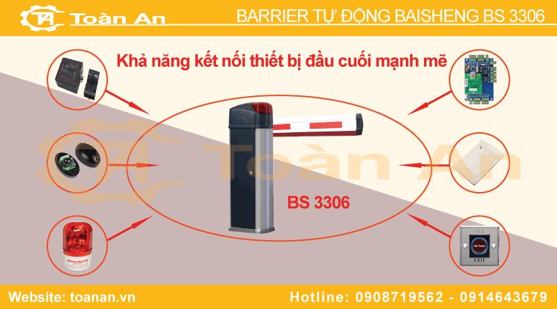 Một số thiết bị đầu cuối kết nối cùng barrier tự động Bisen Bs 3306.