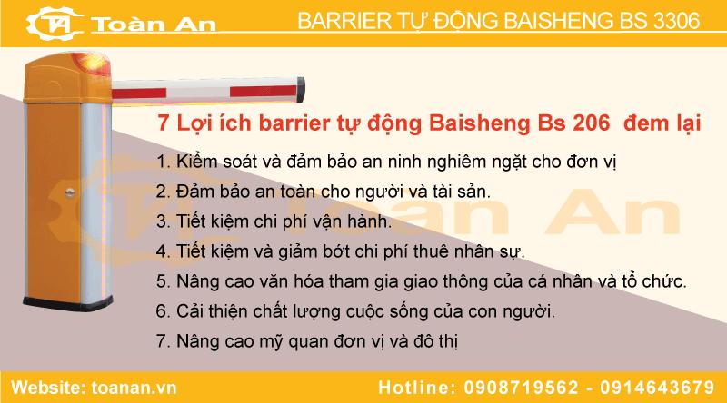 Những lợi ích khi lắp đặt barie bs 3306.