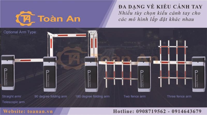 Barrier tự động Taiwan MAC 132 - đa dạng về kiểu cánh tay
