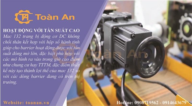 Barrier tự động Taiwan MAC 132 - hoạt động với tần xuất cao nhờ động cơ DC không chổi than